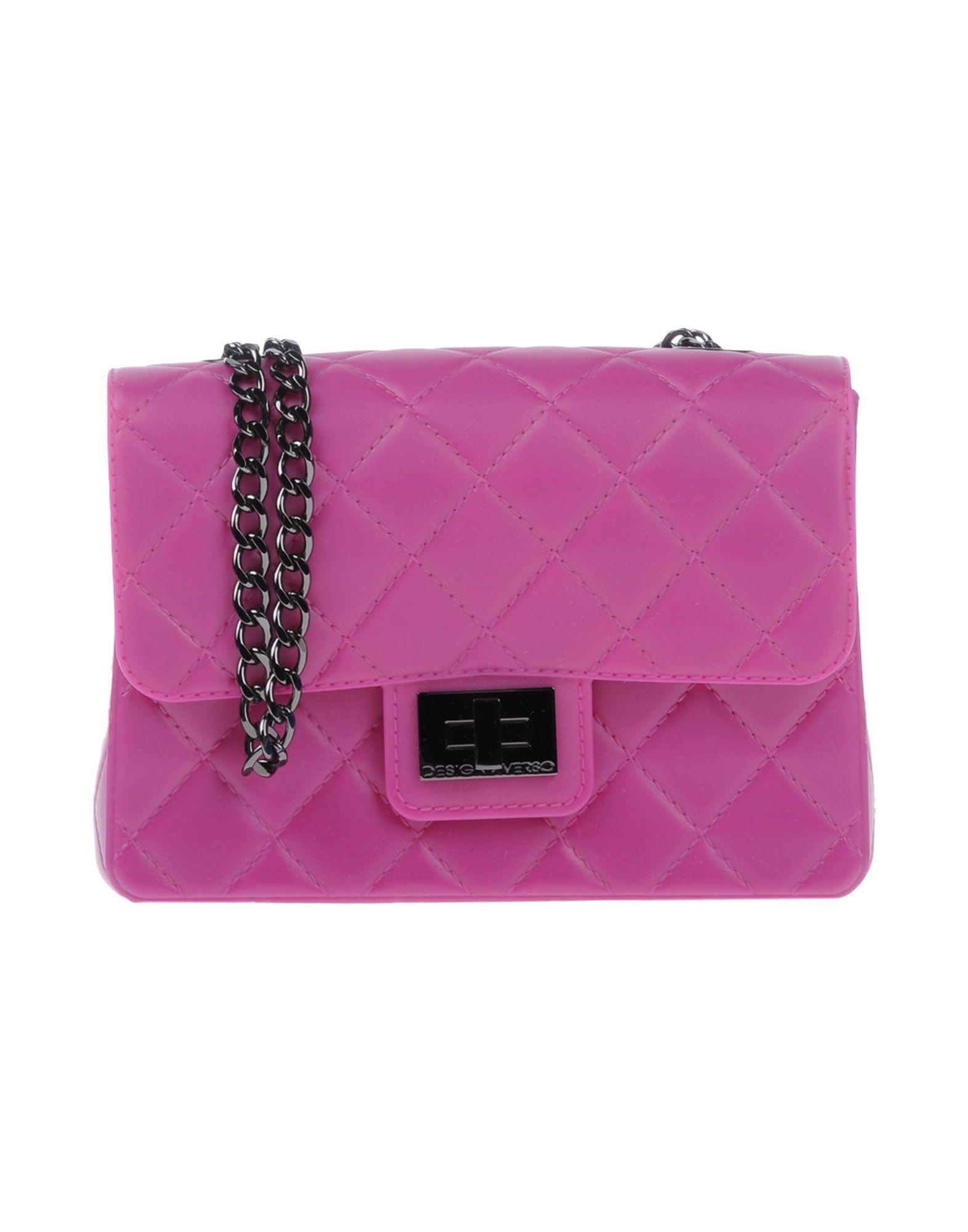 Designinverso Cross-Body Bags In Purple
