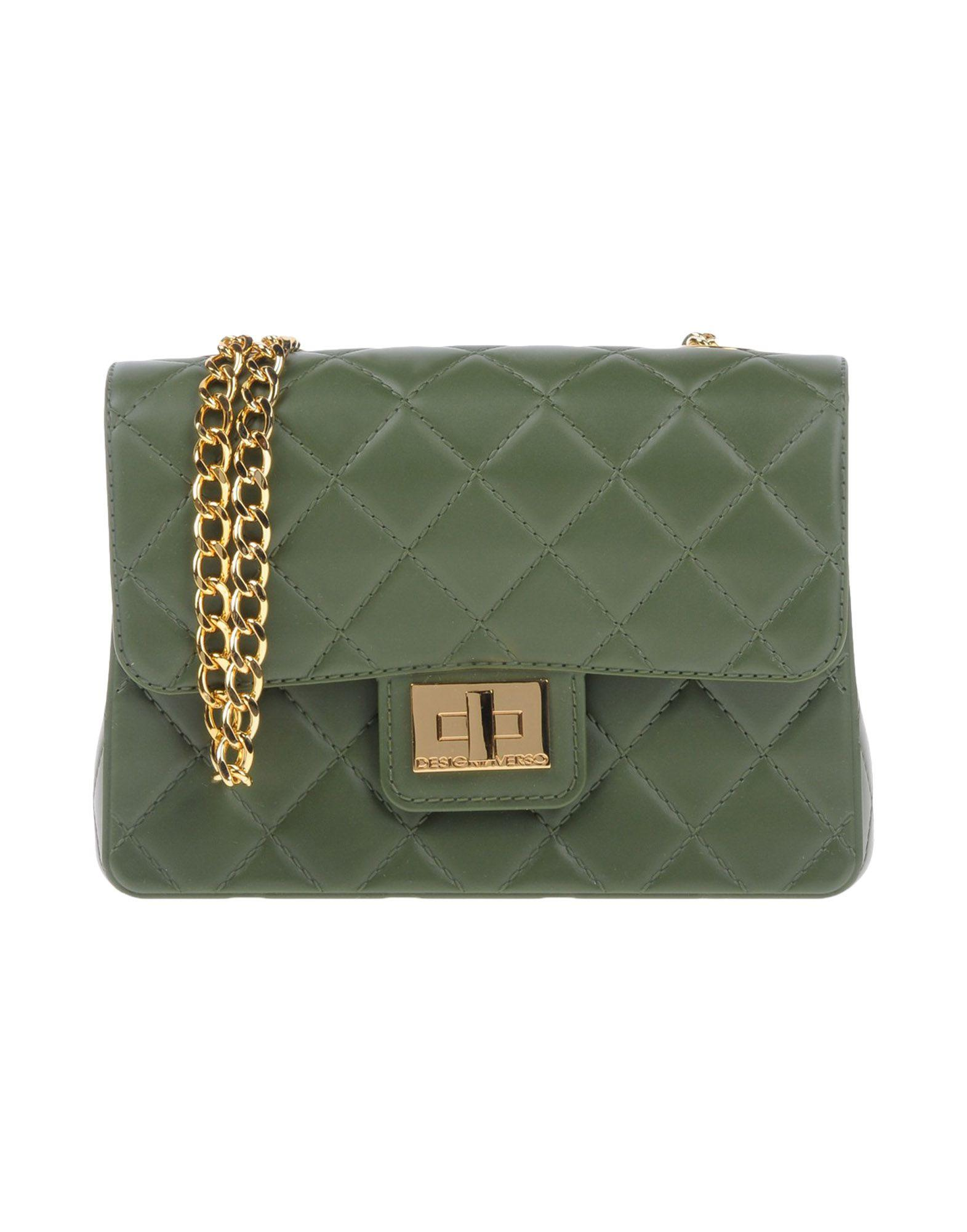 Designinverso Cross-Body Bags In Military Green