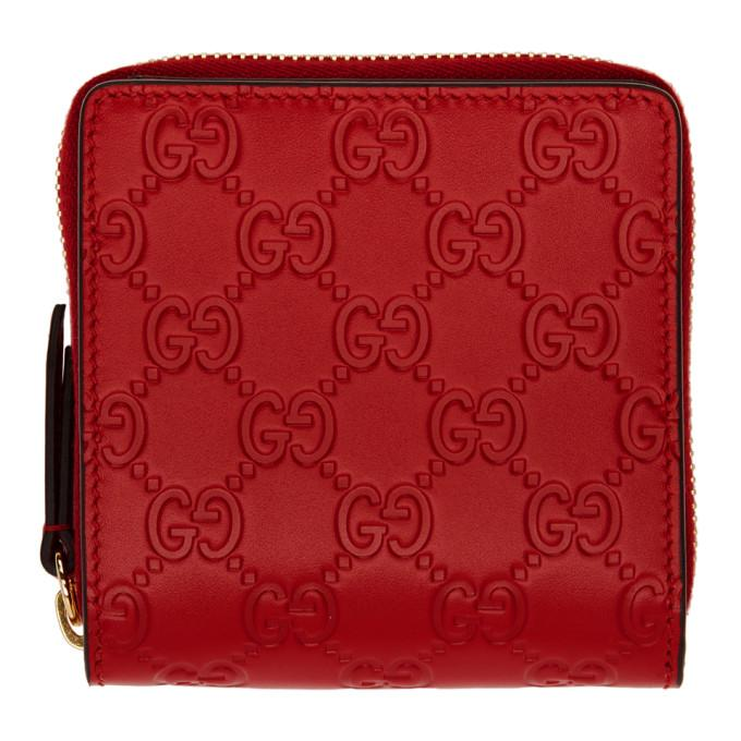 e4ee95f0f95b Gucci Red Linea A Zip Wallet In 6433 Red | ModeSens