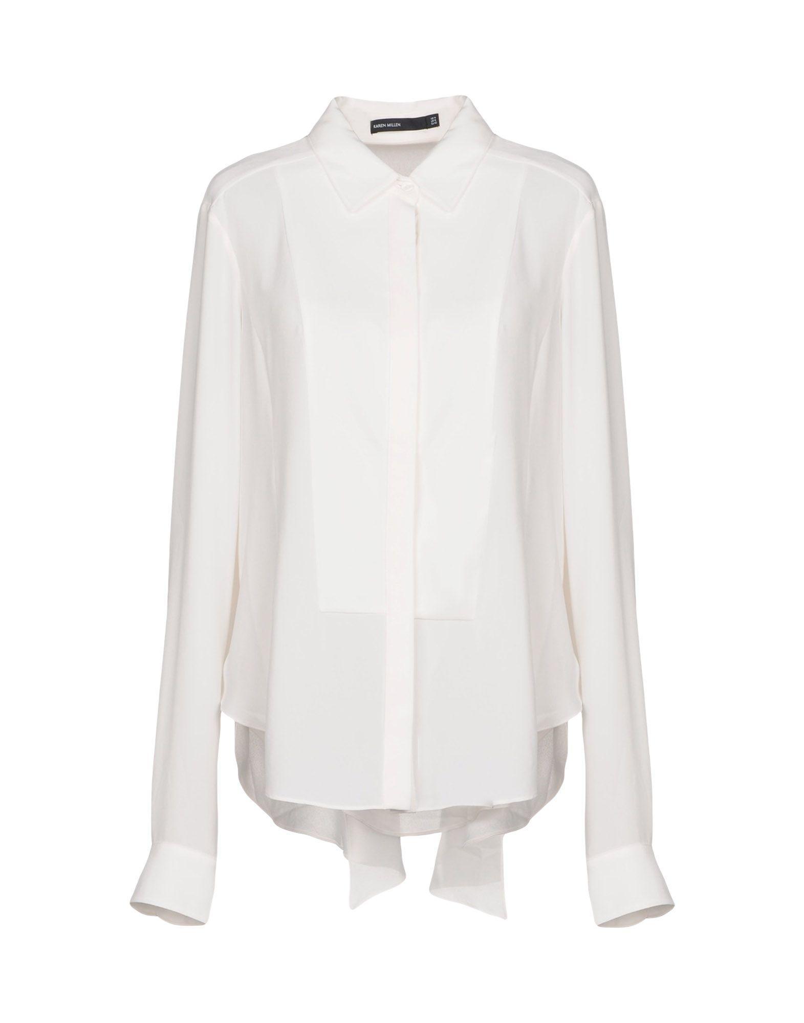 Karen Millen Shirts In Ivory