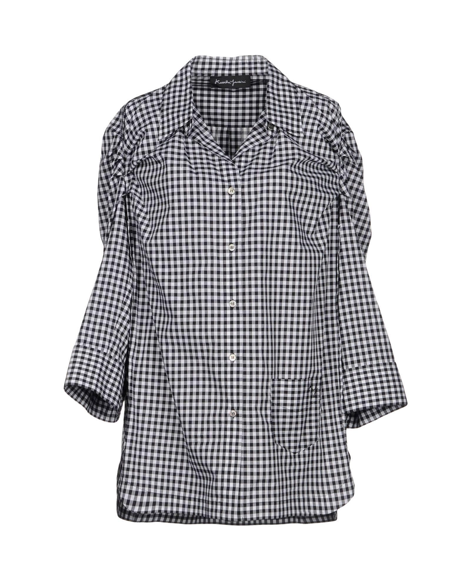 Rossella Jardini Checked Shirt In Black