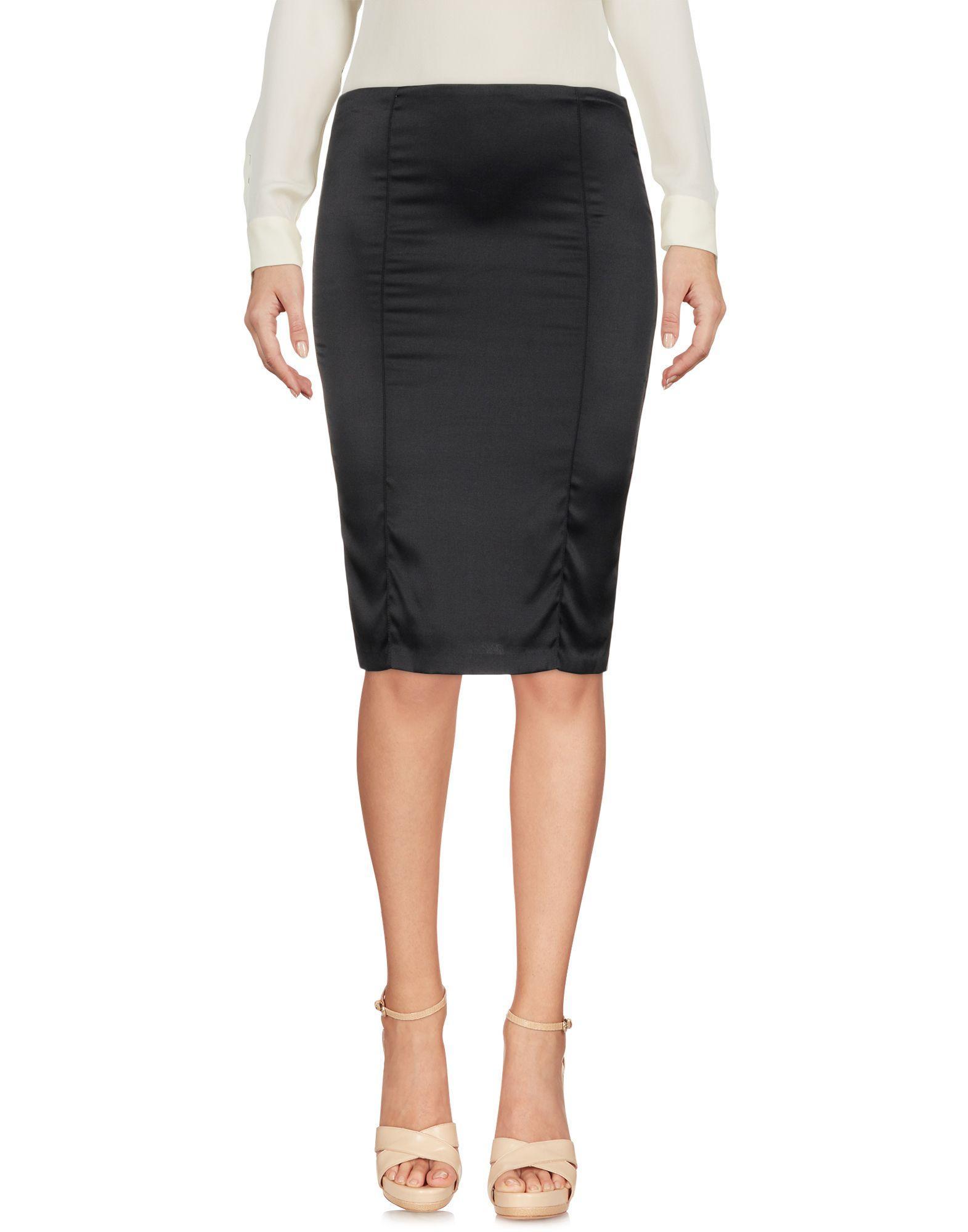 Sophie Theallet Knee Length Skirt In Black