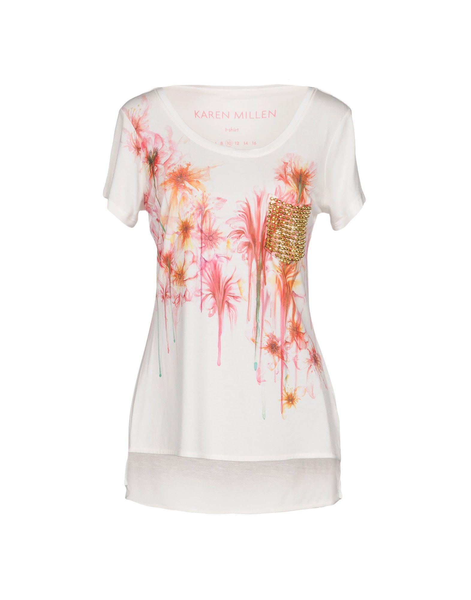 Karen Millen T-shirts In Ivory