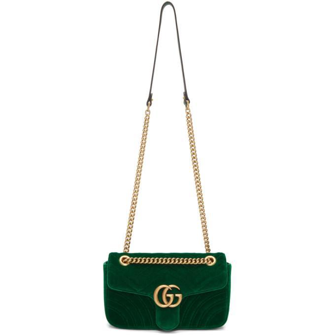 cd3878a0a535dc Gucci Green Velvet Small Gg Marmont 2.0 Bag   ModeSens