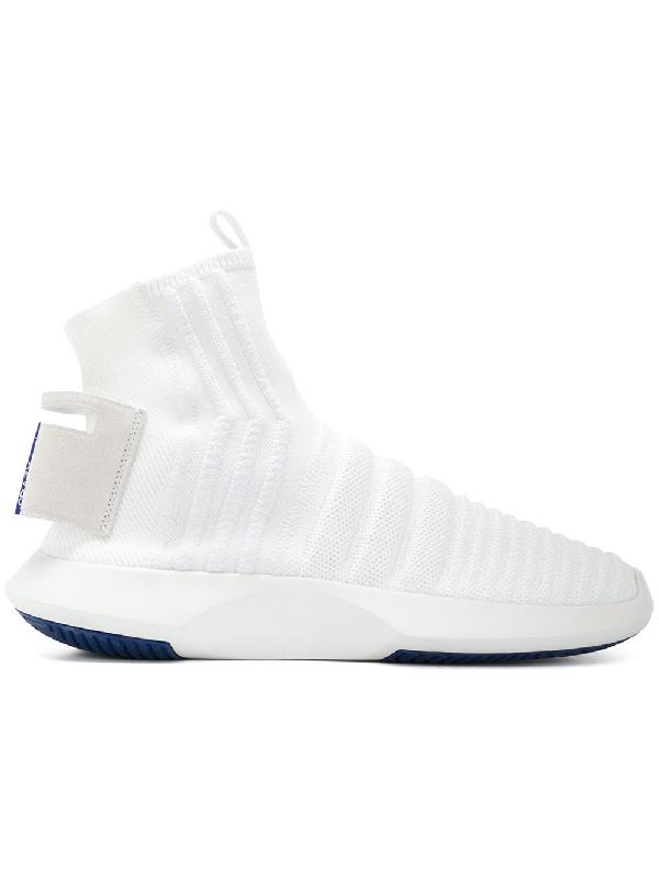los angeles 7199e adc60 Adidas Originals Crazy 1 Adv Sock Primeknit Sneakers - White. Farfetch