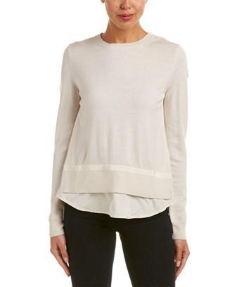 Moncler Twist Knit Wool Sweater In White