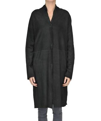 Salvatore Santoro Women's  Black Leather Coat