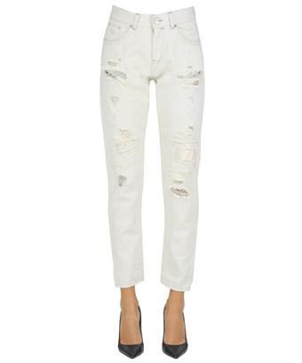 Pinko Women's  White Cotton Jeans