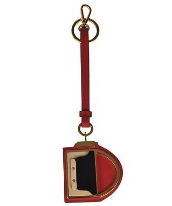 Marni Women's  Black/red Leather Key Chain