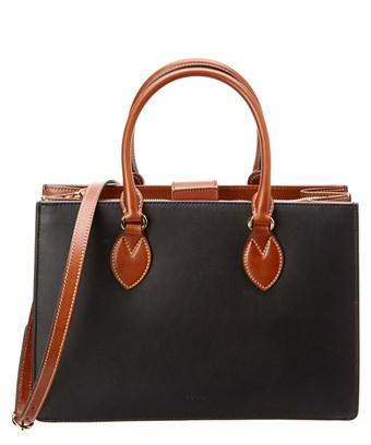 Gucci Linea A Small Leather Tote In Black
