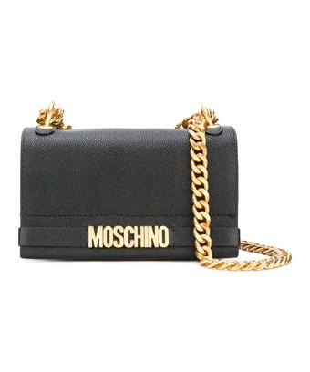 Moschino Women's  Black Leather Shoulder Bag