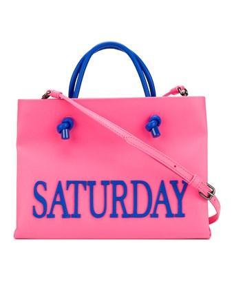 Alberta Ferretti Women's  Pink Leather Tote