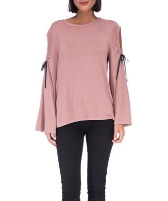 Bobeau Yara Cold Shoulder T-shirt In Rose