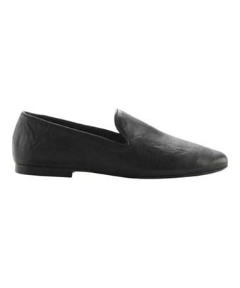Vince Women's   Bray Leather Smoking Loafer In Black Burgins Calf