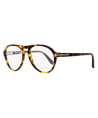 Tom Ford Aviator Eyeglasses Tf5413 052 Size: 53mm Vintage Havana/gold Ft5413