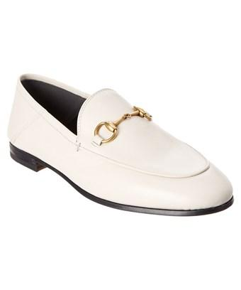 Gucci Brixton Leather Loafer In White