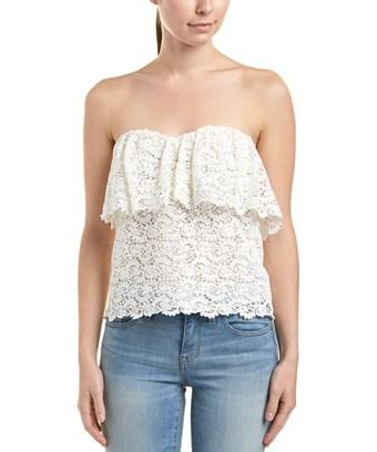 Rebecca Taylor Lace Top In White