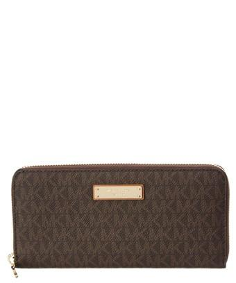 Michael Michael Kors Jet Set Signature Za Continental Leather Wallet In Nocolor