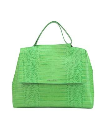 Orciani Women's  Green Leather Tote