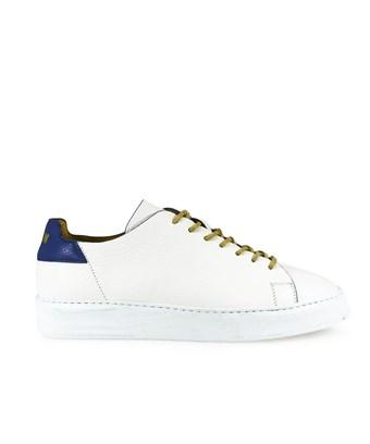 Msgm Men's  White Leather Sneakers