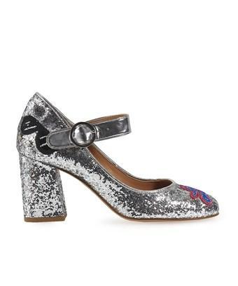 Love Moschino Women's  Silver Glitter Pumps