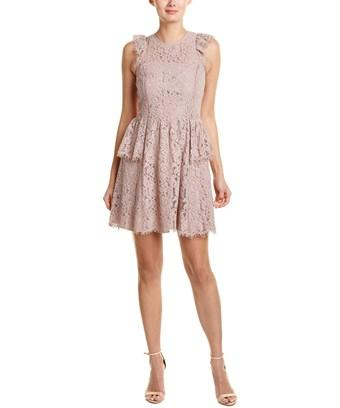 Adelyn Rae Tracy A-line Dress In Beige