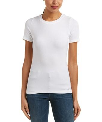 Michael Stars Ribbed T-shirt In White