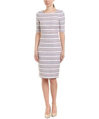 St. John Wool-blend Dress In Nocolor