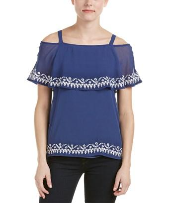 Design History Blouse In Blue