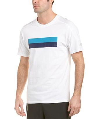New Balance Athletic Stripe T-shirt In White