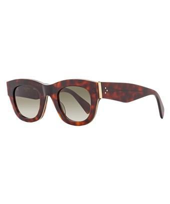 Celine Oval Sunglasses Cl41095s Agmz3 Red Havana 41095