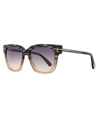 Tom Ford Square Sunglasses Tf436 Tracy 20b Peach/melange Gray Ft0436