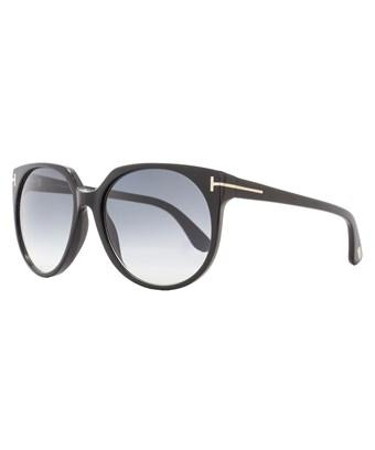 Tom Ford Square Sunglasses Tf370 Agatha 01b Shiny Black/gold Ft0370