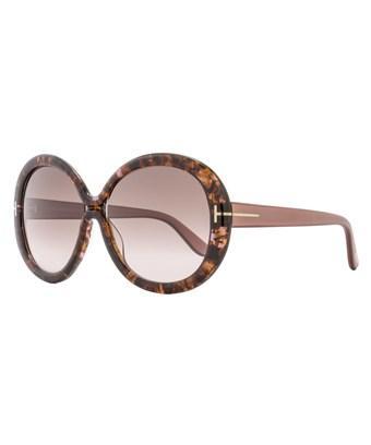 Tom Ford Gisella Sunglasses Ft0388 50f   Havana Brown Frame   Brown Lens In Rose/brown Havana