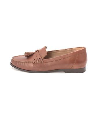 Cole Haan Womens Ashbysam Closed Toe Loafers In Brown