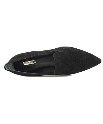 Guess Womens Loriana Suede Pointed Toe Loafers In Black