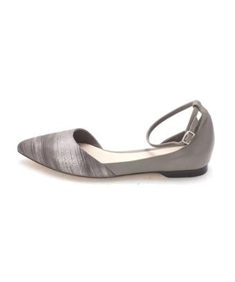 Cole Haan Womens 14a4163 Pointed Toe Ankle Strap Slide Flats In Grey