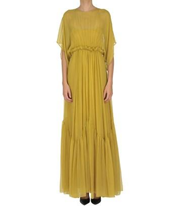 N°21 Women's  Yellow Silk Dress