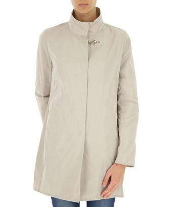 Fay Women's  Beige Polyester Coat In Brown