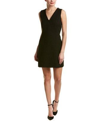 Rebecca Taylor Tweed A-line Dress In Black