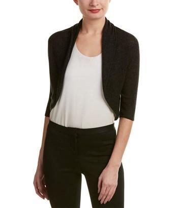 Elie Tahari Wool-blend Cardigan In Grey