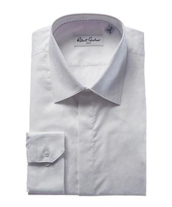 Robert Graham Laz Modern Fit Dress Shirt In White