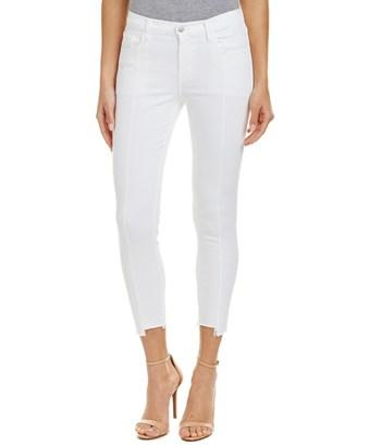 J Brand Blanc Pintuck Skinny Leg In White