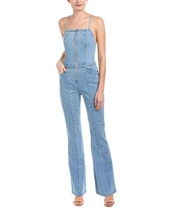 The Jetset Diaries Stevie Overall Jumpsuit In Blue