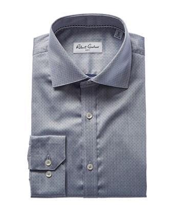 Robert Graham Barry Modern Fit Dress Shirt In Blue