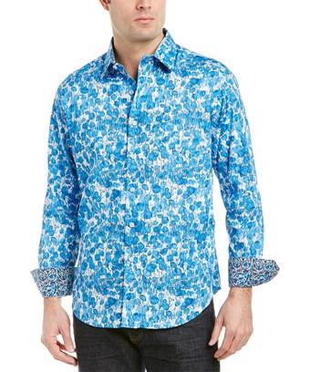 Robert Graham Hermantown Classic Fit Woven Shirt In Blue