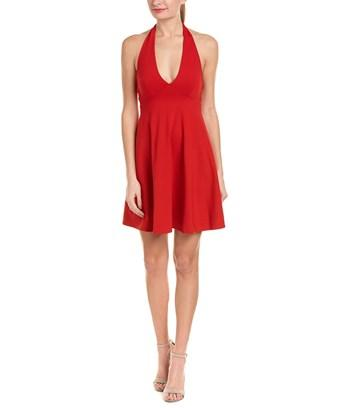Susana Monaco Fern A-line Dress In Red