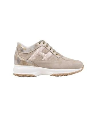 Hogan Women's  Gold Leather Sneakers
