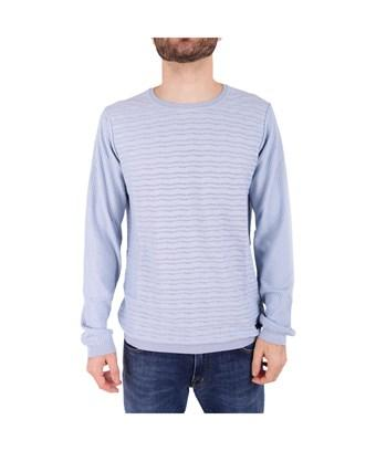 Trussardi Men's  Light Blue Cotton Sweater