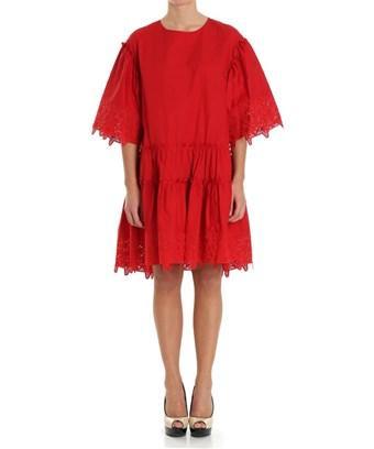 Parosh P.a.r.o.s.h. Women's  Red Cotton Dress
